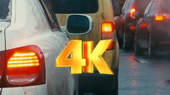 Thumbnail for Bumper-to-bumper Traffic On Dull Day