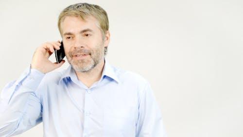 Pleasant Man Phone Talk