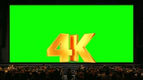 Thumbnail for Menschen im Auditorium mit Chroma Key Screen