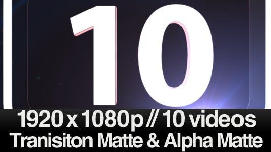 Top 10 Number Countdown in 3D - 10 Video Series