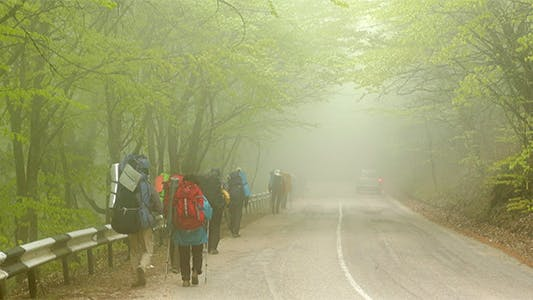 Thumbnail for Mountain Trekking in Strong Fog