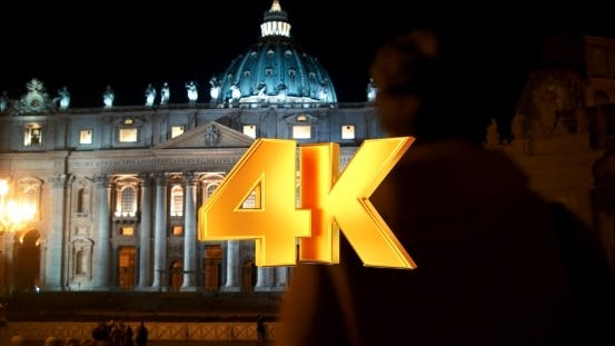 Thumbnail for Night View Of St. Peters Basilica In Vatican City