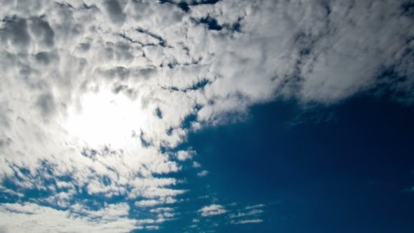 Thumbnail for Clouds Moving In The Blue Sky On The Background Of