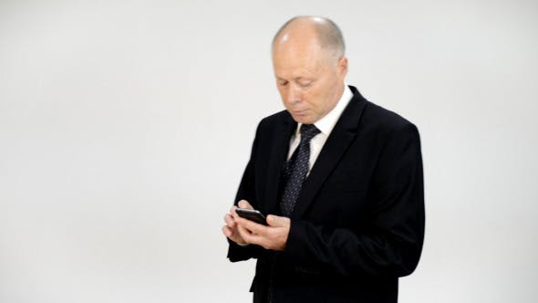 Thumbnail for Businessman Texting Message