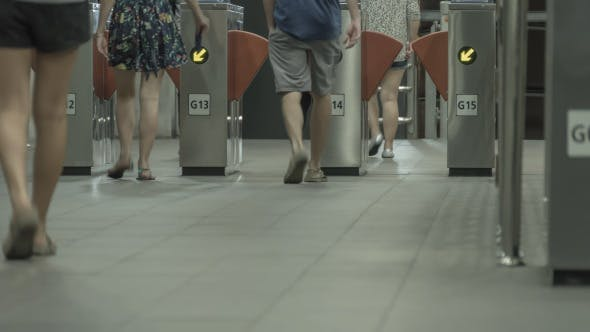 Thumbnail for Walking Crowd People In Subway