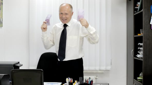 Thumbnail for Excited Businessman Dancing