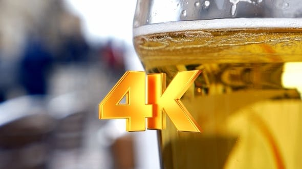 Thumbnail for Glass With Light Beer In Outdoor Cafe