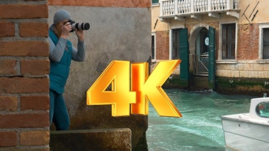 Thumbnail for Photographer Working By The Canal In Venice