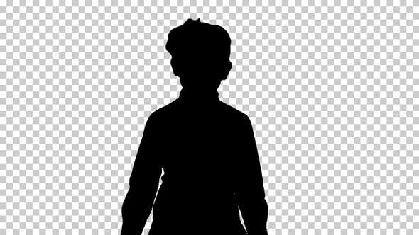 Thumbnail for Silhouette Little girl walking, Alpha Channel