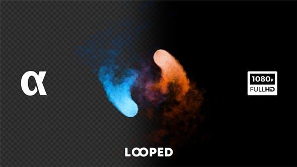 Thumbnail for Red And Blue Smoky Yin-Yang
