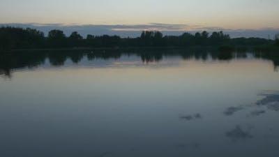 Rippling Water, Wide Shot, Horizon,Trees`