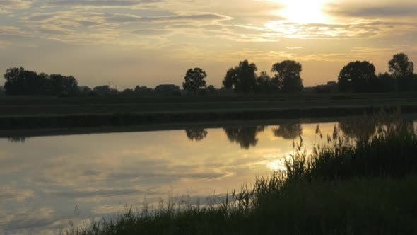 Thumbnail for Pond, River, Lake, Sunset Reflection