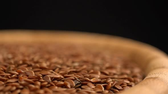 Thumbnail for Many Flax Seeds Rotating Background