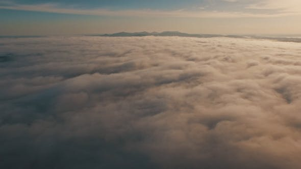 Thumbnail for Epic Aerial above Clouds and Fog