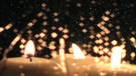 Cover Image for Glittering Rain Drops and Candles