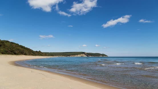 Beautiful Beach on the Bulgarian Black Sea Coast in Summer
