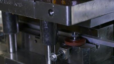 Machine at the Factory Machining Metal