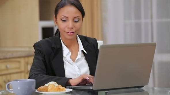 Cover Image for Beautiful Woman Working At Home