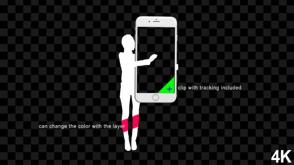 Thumbnail for Silhouette Female Hold And Touch Screen Smartphone