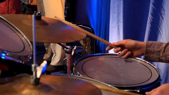 Thumbnail for Drummer Playing On Percussion In Rock Concert
