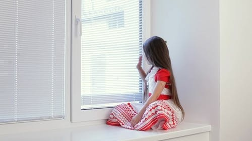 Girl Misses On The Window.