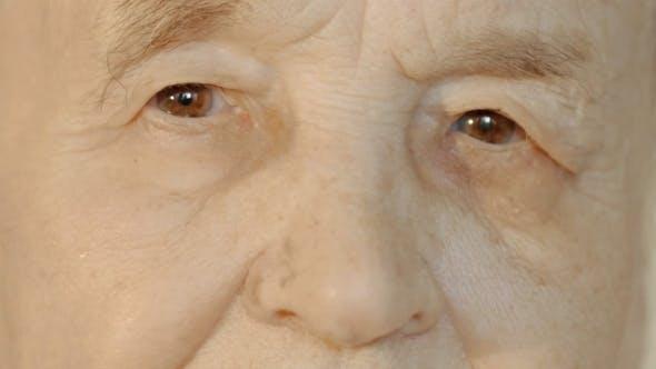 Thumbnail for Senior Woman Opening And Closing Eyes