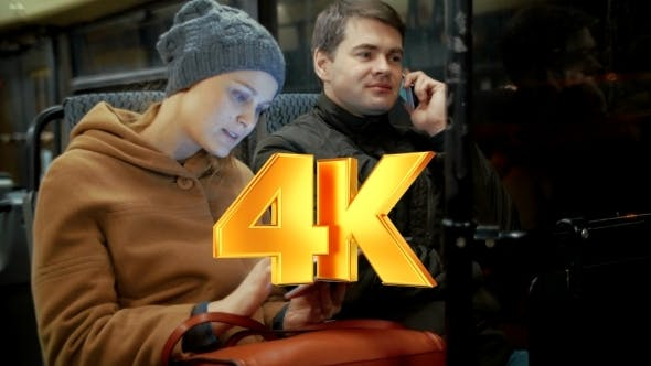 Thumbnail for Bus Passengers Using Cellphone And Pad
