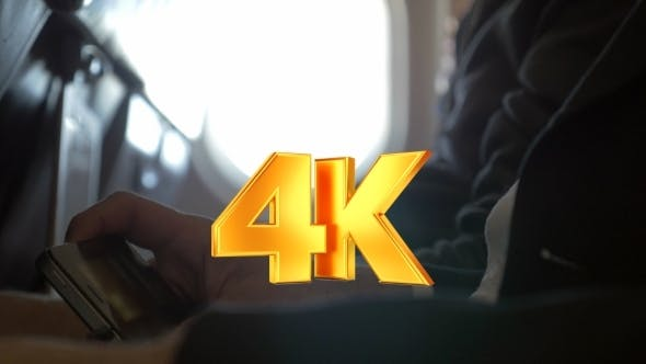 Thumbnail for Man Watching Movie On Smart Phone In Plane