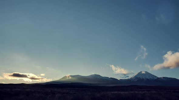 Tongariro National Park at daybreak