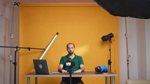 Famous Vlogger Recording Video
