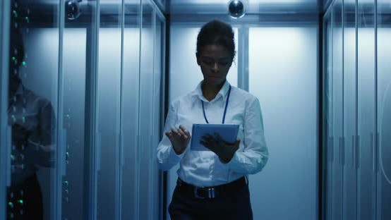 Thumbnail for Woman with Tablet Diagnosing Server Hardware