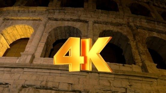 Thumbnail for Famous Roman Sight Coliseum At Night