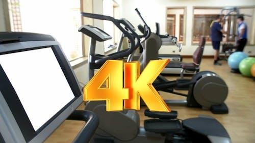 Modern Gym With Sport Equipment