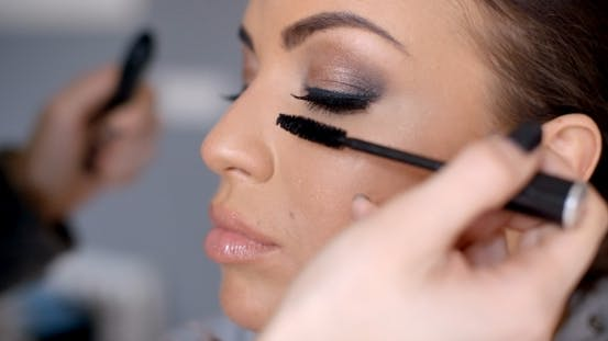 Thumbnail for Beautician Applying Mascara