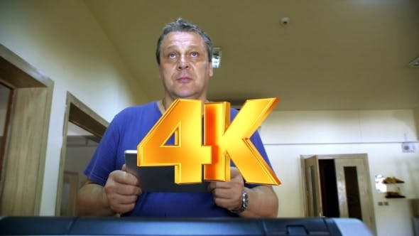 Thumbnail for Man With Touch Pad Exercising On Treadmill