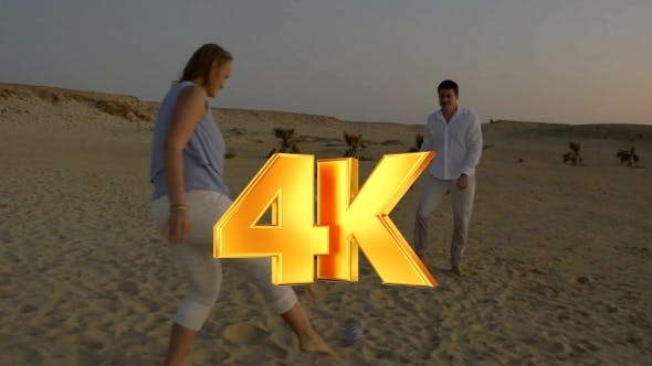 Thumbnail for Active Game With Child On The Beach At Sunset