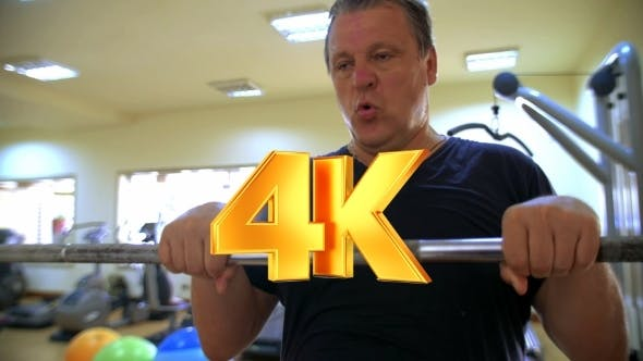Thumbnail for Hard Workout With Barbell In Gym