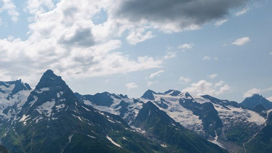 Thumbnail for Capped Mountains in the Snow with Alpine Meadows 2