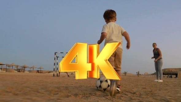 Thumbnail for Boy Is Ready To Make a Goal In This Beach Football