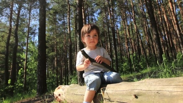 Thumbnail for Boy Sitting On a Log