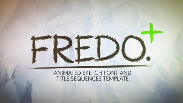 Thumbnail for Шрифт анимационного Sketch Fredo