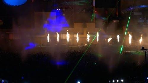 Crowd Dance Party Feuer
