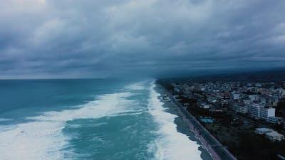 Ocean waves during the Hurricane