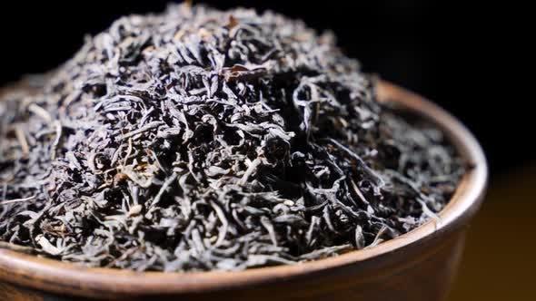 Macro Closeup Shot Largeleaf Black Tea