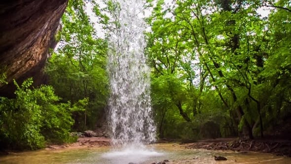 Thumbnail for Beautiful Waterfall In Wild Crimea Forest