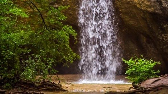 Thumbnail for Beautiful Waterfall Kozyrek In Crimea Forest