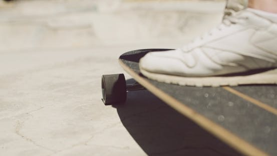 Thumbnail for Male Foot On a Skateboard