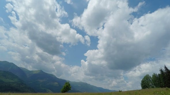 Thumbnail for Cloudy Sky in Mountains