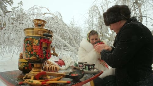 Tea In The Winter Forest