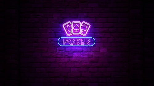 Poker Cards Neon Sign